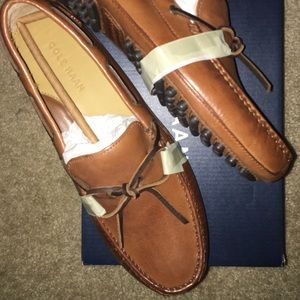 COLE HAAN brown leather loafers Size 8 men. New!